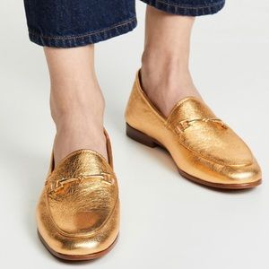 New Sam Edelman Loraine Bit Leather Loafer Gold